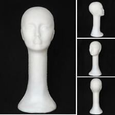 1PC FOAM FEMALE HEAD STYROFOAM LONG NECK MANNEQUIN WIG HAT GLASSES DISPLAY STAND