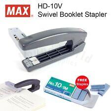 MAX HD-10V Swivel Booklet DIY Stapler (Grey) + FREE STAPLES!