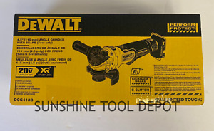 DeWalt DCG413B 4.5 in 20V Max XR Brushless Angle Grinder w/ Brake New