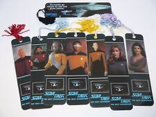 Star Trek Next Generation TNG Bookmarks Set of 8 Picard Riker Data Troi Worf