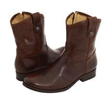 Frye Women's Melissa Button Short Boots Dark Brown Size 6.5 M