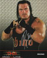 TNA RHINO HAND SIGNED AUTOGRAPHED 8X10 PROMO PHOTO WITH COA