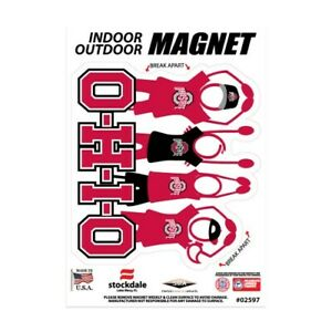 """OHIO STATE BUCKEYES 5""""X7"""" DIE-CUT MAGNET FOR INDOOR OUTDOOR USE HEAVY DUTY"""