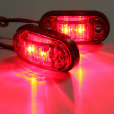 Oval Red 2 LED Trailer Truck lights Clearance Side Marker Light Car Styling New