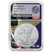 2021 $1 American Silver Eagle NGC MS70 West Point Core