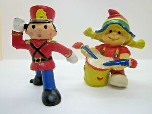 Vintage Lot 2 Wallace Berrie PVC Figurines Drummer Girl and Toy Soldier Portugal