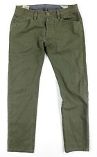 Diesel DARRON Slim Tapered Jeans Mens 32 x 32 green straight leg distressed pant