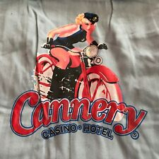 CANNERY Casino & Hotel Las Vegas Bowling Style SHIRT w PIN UP GIRL Motorcycle XL