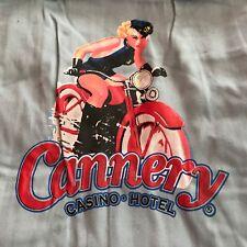 CANNERY Casino & Hotel Las Vegas Bowling Style SHIRT w PIN UP GIRL Motorcycle XL