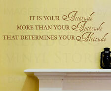 Wall Decal Sticker Quote Vinyl Art Removable Attitude is Most Important IN39