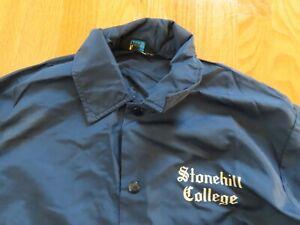 Vintage 60s Champion STONEHILL COLLEGE Snap Button-Down (LG) Windbreaker Jacket