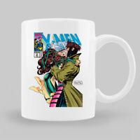 Gambit and Rogue Xmen As Vintage Comic Cover Black Coffee Mug Tea Cup