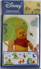 CLEARANCE **-WINNIE THE POOH Disney Stikaround  WALL STICKERS 38 pack(C626)