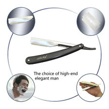 1x  Stainless Steel Straight Edge Barber Razor Folding Shaving Shave Knife Cream