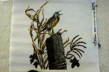 "Needle Point Canvas-Handpainted--""Meadow Lark:"""