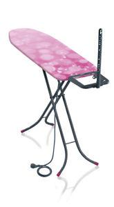 Leifheit Bügeltisch Classic M Basic Plus grey pink, Bügelbrett, 120x38 cm Neu