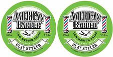AMERICAN BARBER CLAY STYLER 100ML X 2 FREE SHIPPING