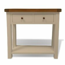 Painted Console Table with Oak Top / Painted / Hall /Table / Solid Wood Walcot