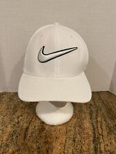 Nike Dri-Fit Classic99 Swoosh Cap Hat 6 Panel M/L NWOT White