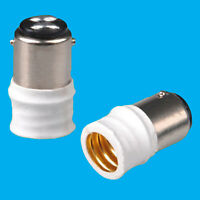 1x Small Bayonet SBC B15 To Small Screw E14 SES Light Bulb Adaptor Converter