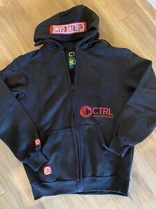 Ctrl industries Zipper Hoodie Sweatshirt  NEW Black XL