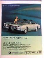 1967 Oldsmobile Delta 88 Vintage Advertisement Print Art Car Ad Poster LG73