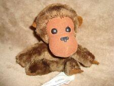 """Vintage 80's Dakin monkey Gorilla 1981 Plush ground nutshell 5"""""""