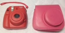 Fujifilm Instax Mini 8 Fuji Instant Film Camera Pink w/ carrying case Tested