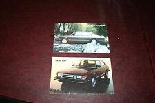 1984 Classic Saab 900 Turbo & Non-Turbo Sedan Vintage Postcard Set