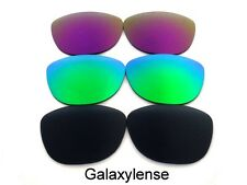 Galaxy Replacement Lenses For Oakley Frogskins Black&Green&Purple Polarized 3PS