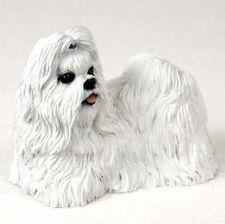 Shih Tzu Hand Painted Dog Figurine Statue White