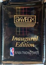 1990-1991 Skybox 18 Unopened Packs Of Basketball Cards Inaugural Edition