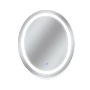 "Dyconn Faucet Edison Tri-Color Oval Backlit Bathroom LED Mirror (30""W x 36""H)"