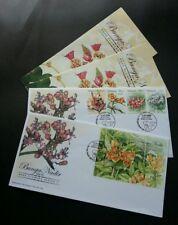 Rare Flowers Series Ii Malaysia 2005 Plants Leaf Flora Tree (Fdc pair) *toning