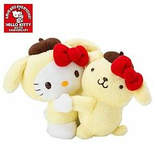 SANRIO JAPAN 40th ANNIVERSARY HELLO KITTY & POM POM PURIN PLUSH TOY US Seller