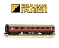 Graham Farish 374-161A BR MK1 FK First Corridor Maroon N Gauge