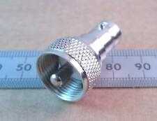 Pl259 Uhf Cb Radio Plug A Bnc Adaptador de enchufe, 50 Ohm Coaxial