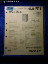 Sony Service Manual HCD ED1 Component System (#6382)