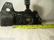 """Sears"" KS500 SLR 35mm Film Camera Sears 50mm Lens Flash 1978 Vintage Antique"