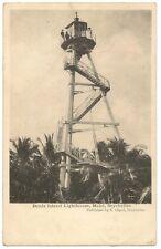 """Seychelles """"Denis Island Lighthouse, Mahe"""" postcard used 1909"""