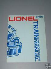 LIONEL O/O27 TRAIN AND ACCESSORY TRAIN MANUAL