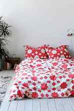 Urban Outfitters Magical Thinking Star Block Duvet Cover Full/Queen Coral