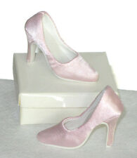 "Fashion Doll Shoes PINK SATIN PUMPS Fit CANDI 16"" Ellowyne Tyler, NEW"