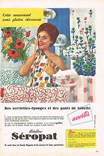 PUBLICITE ADVERTISING  1959   SEROPAT    serviettes éponges gants de toilette