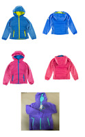 NEW Snozu Girl's Quilted Fleece Hooded Layered Look Soft Plush Jacket - VARIETY