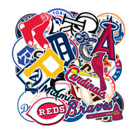 30 MLB Baseball Teams Logo Decals Vinyl Stickers for Skateboard/Luggage/Laptop