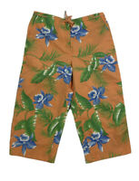 Lauren Ralph Lauren Womens Petite 10P Floral Orange Tropical Capri Cropped Pants