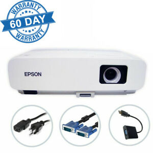 Epson PowerLite 84 3LCD Projector 2600 ANSI HD HDMI w/Adapter 1080i Remote