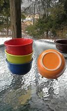 set 4 GUSTO BOWL tangerine scarlet lapis + HOMER LAUGHLIN FIESTA WARE 23 OZ. NEW