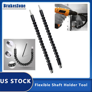 """2x Flexible Shaft Extension Bits Right Angle Drill Adapter Screwdriver Hold 1/4"""""""